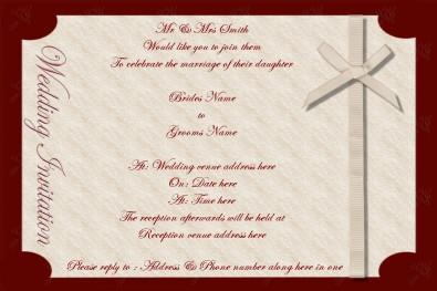 Western Wedding Invitation for luxury invitation sample