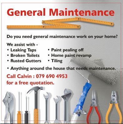 General Maintenance (Painting, Tiling, Carpentry)   Benoni ...