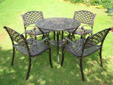 cast aluminium patio outdoor garden furniture knysna garden