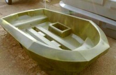 Cavity speedster small plastic bass fishing boat boats for Small plastic fishing boats