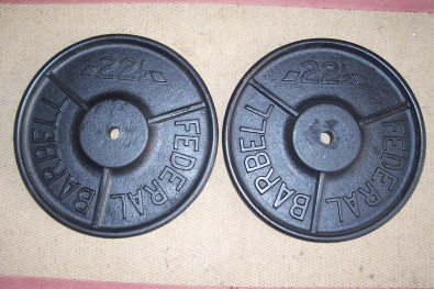 Two x 22.5 Kg Weight Plates.