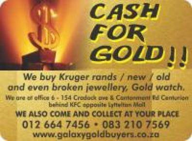 COME GET CASH FOR GOLD