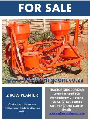 vetsak 2 row planter pretoria north farming equipment. Black Bedroom Furniture Sets. Home Design Ideas