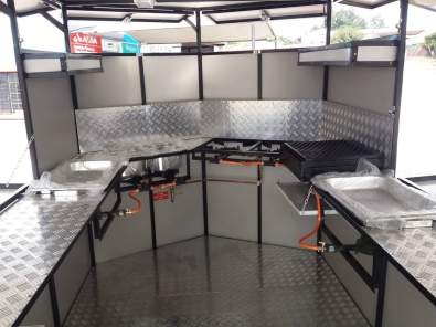 Fast food trailer with comlete equiped gas kitchen for Kitchen outlays