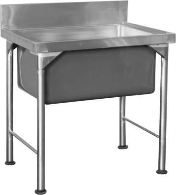 Stainless steel tables prep tables sinks shelfs centurion catering equipment 39924617 - Stainless steel table with sink and faucet ...
