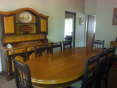 Solid Yellow Wood Imbuia Dining Room Set