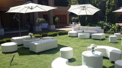 White event couches stretch tents for hire event for Cocktail tables hire durban