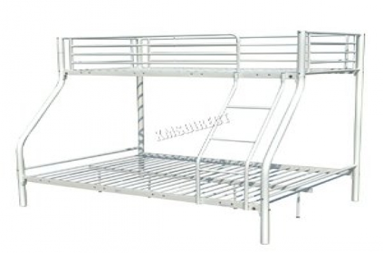 Steel bunk bed bottom is a double bed east rand for Bunk bed with double on bottom