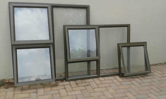 Aluminium Windows Bronze Finish Top Hung Centurion
