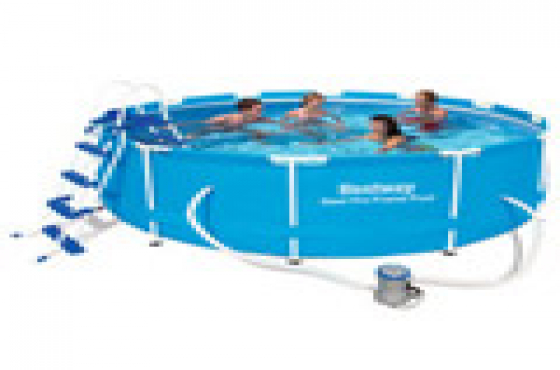 Bestway x 1m deep steel frame swimming pool with accessories pretoria west pools and Swimming pool maintenance pretoria