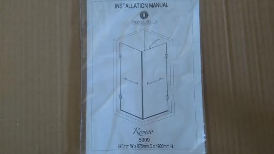 Frameless Glass Shower Door Prima Bella Romeo X1 R1000