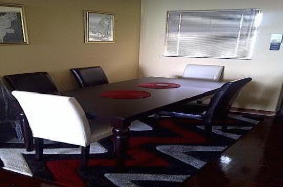 Mahogany dining table and chairs durban central