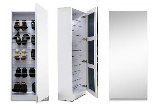 Mirrored Shoe Storage Cabinet West Rand Bedroom