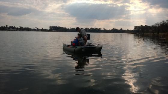 Pro x boats kickboat pontoon boat speci boat fly fishing for Fly fishing pontoon