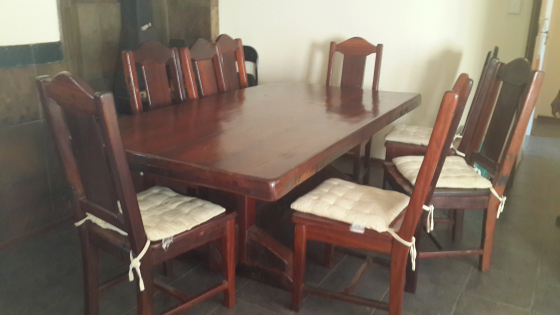 8 Seater Sleeper Wood Dining Room Table And 2Piece Display Unit Centurion