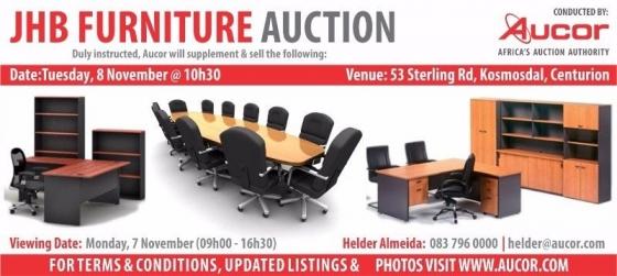 Furniture auction nov aucor auctioneers office