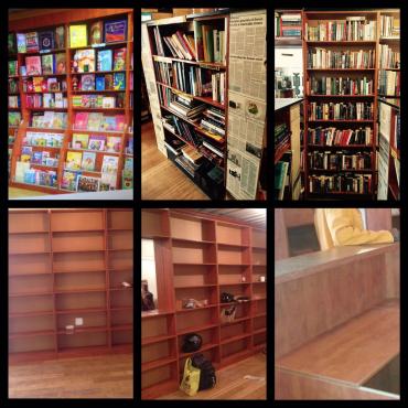 Wooden Bookshelves From Book Store