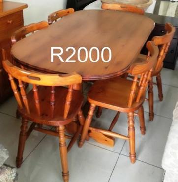 Antique Wooden Diningroom Set Antique Furniture 64578324 Junk Mail Classifieds