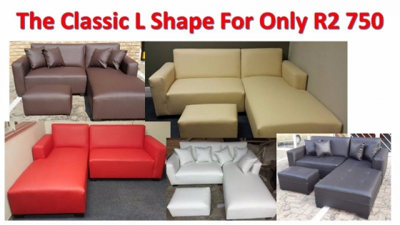 The affordable classic l shape only choose for Affordable furniture pretoria