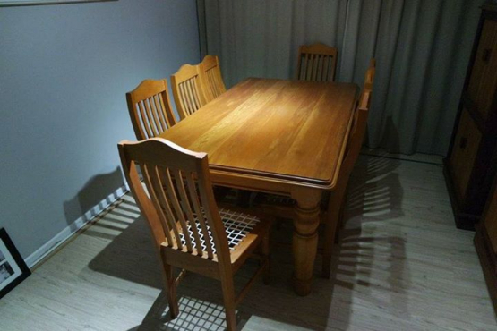 8 seater yellow wood dining room suite diningroom for 8 seater dining room suites