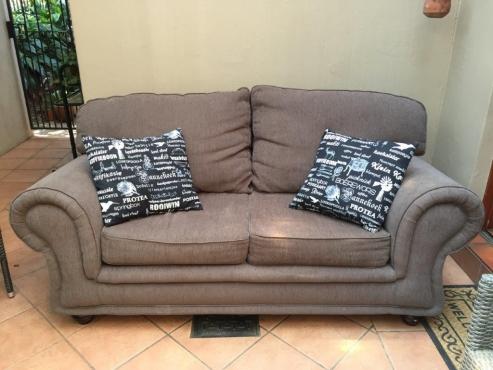 Couch Set 3 Piece Grafton Everest Grey Stone Colour 3 X