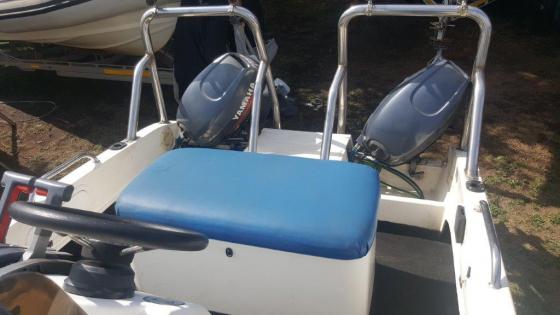 2 X Yamaha 40hp Outboard Motors On Kozi Cat Fishing Boat