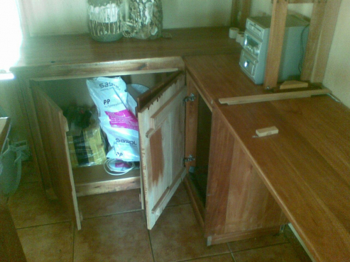 Solid saligna bar counter and wall unit with shelves and storage pretoria north bar - Wall bar counter ...