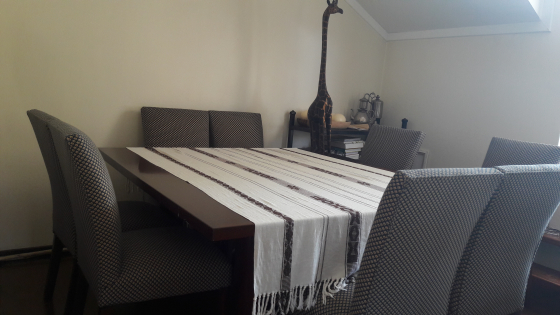 Solid dark wood 8 seater dining table neg sandton for 12 seater dining table south africa