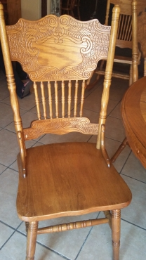 Old Oak 8 Seater Dining Room Table And Chairs Diningroom Furniture 6172