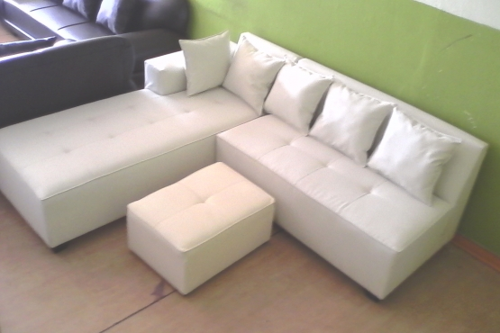 Tiffany Corner Lounge Suite Bonded Leather East Rand