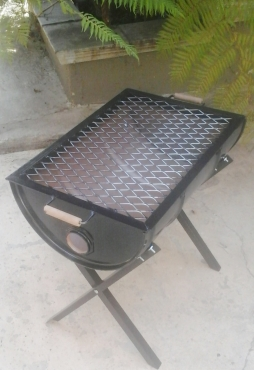 how to make a braai out of a drum