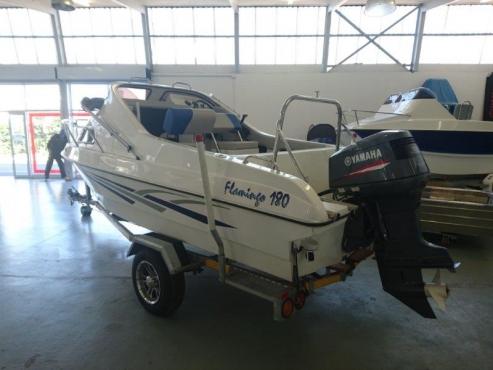 Cabin boat flamingo 180 with yamaha 130hp 2stroke motor for Yamaha motor boats for sale