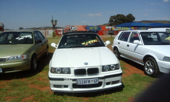 bmw 328i convertible drop top white 1996 for sale r54900. Black Bedroom Furniture Sets. Home Design Ideas