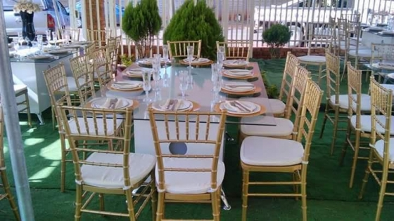 Glass tables for sale hire pretoria west catering