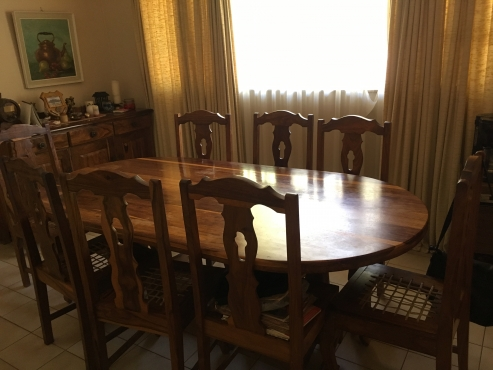 Kiaat dining room set pretoria east diningroom for Dining room tables johannesburg
