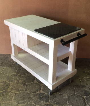 Kitchen Butchers Block Cape Town : Butchers Block Farmhouse Series 1200 With Drawers - White Washed Brakpan Kitchen Furniture ...
