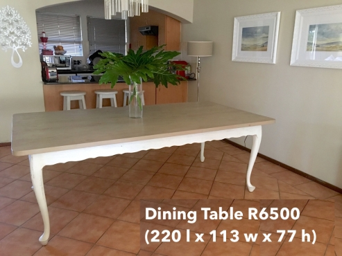 Classic 8 Seater Dining Room Table Block And Chisel Look But For 70 Less R6500