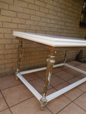 Marble top six seater dining room table from ligne kloof for Dining room tables 6 seater