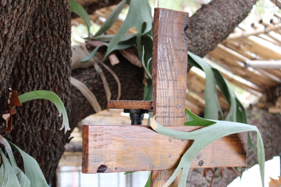 rustic wooden cross wall light made from treated pallet hard wood pretoria north interior. Black Bedroom Furniture Sets. Home Design Ideas