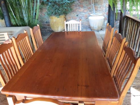 seater oregon pine dining room set pretoria north diningroom