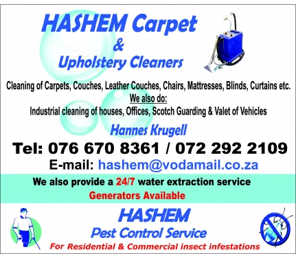 Hashem Pest Control Services Pretoria East Pest