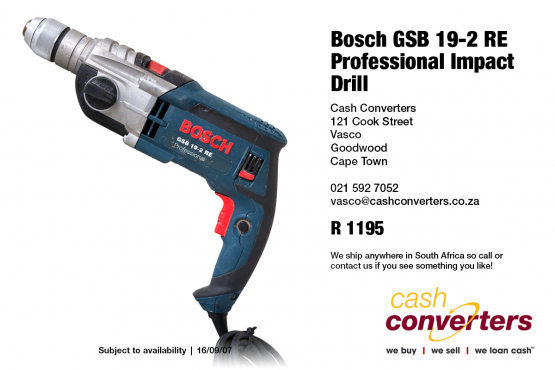 bosch gsb 19 2 re professional impact drill machinery and tools 63892668 junk mail. Black Bedroom Furniture Sets. Home Design Ideas
