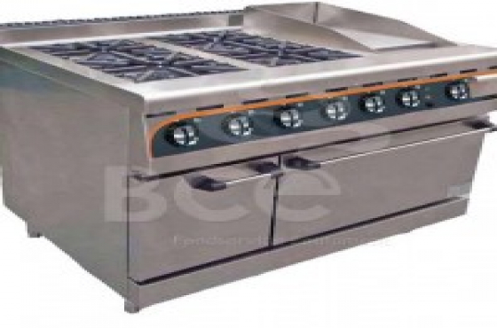 Flat Top Electric Stove ~ Anvil burner combi flat top gas stove electric oven