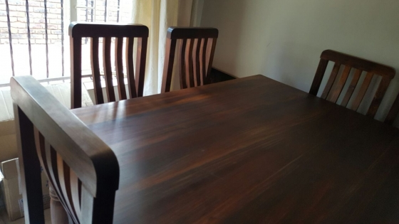 8 Seater Blackwood Dining Table And Chairs Pretoria East Diningroom Furni