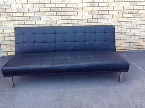 Black Leather Sleeper Couch Tableview Other Furniture