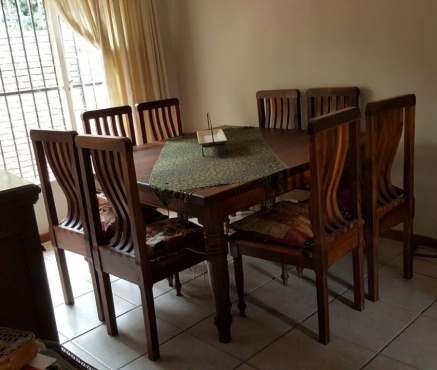 8 seater blackwood dining table and chairs pretoria east for Dining room tables johannesburg