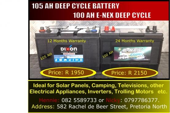 105 Ah Deep Cycle Battery R1950 Pretoria North