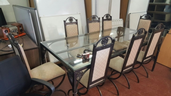 r d glass top 8 seater dining table with chairs r3800