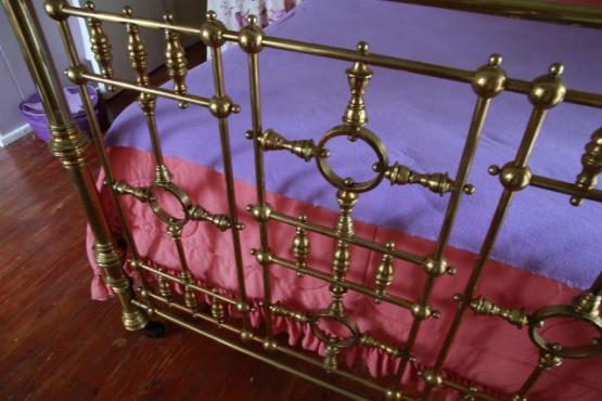antique brass half tester double bed for sale antique. Black Bedroom Furniture Sets. Home Design Ideas