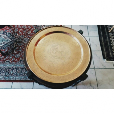 Brass tray with chinese etching tableview antique for Chinese furniture for sale cape town